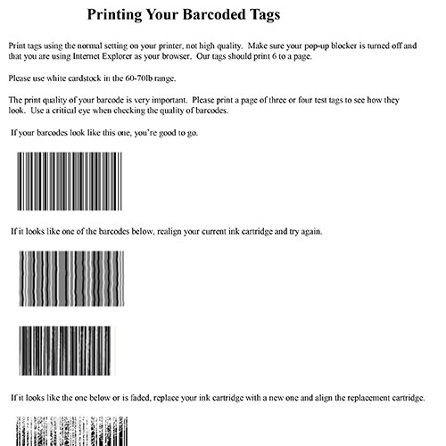 Twice as Nice Kids Consignment - Tagging - Printing Barcodes